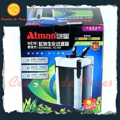 Nuevo Filtro Botellon Canister Atman AT 3335s 760l/h