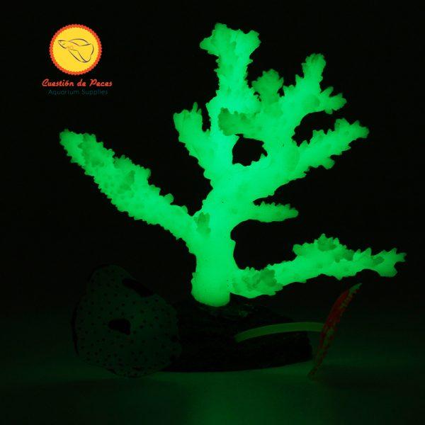 Adorno Acuario Coral con Ramas Silicona  ¡Hermoso!