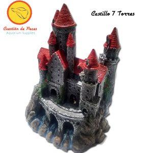 Adorno Castillo Medieval 7 Torres Acuario Terrario