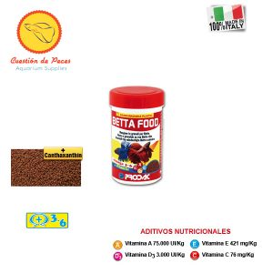 Alimento  Peces – Prodac  BETTA FOOD 40gr