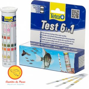 Test agua pecera Tetra 6en1 Ph Kh Gh No2 No3 Cl2