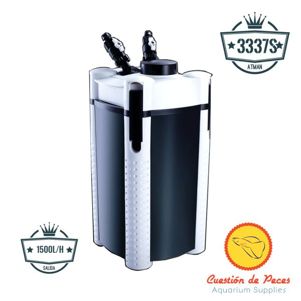 Filtro Botellon Canister Atman AT 3337s 1500l/h Nuevo Modelo